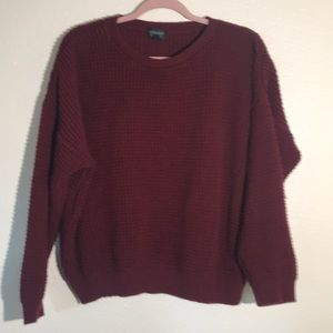 Topshop waffle knit pullover sweater size 8